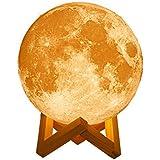 月型ライト MOON LIGHT-ムーンライト 【18cm】 USB充電式 LED照明 月型ランプ 月光 3Dプリント