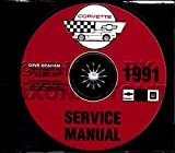 STEP-BY-STEP 1991 CORVETTE FACTORY REPAIR SHOP & SERVICE MANUAL CD - COVERS; Hatchback Coupe,Convertible, ZR1 Hatchback Coupe