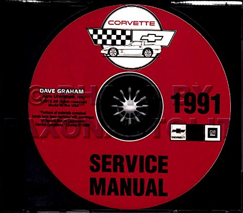 STEP-BY-STEP 1991 CORVETTE FACTORY REPAIR SHOP & SERVICE MANUAL CD - COVERS; Hatchback Coupe,Convertible, ZR1 Hatchback Coupe ()