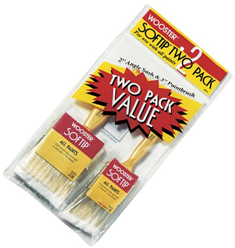 (Wooster Brush 5971 Softip Two Pack Paintbrushes)