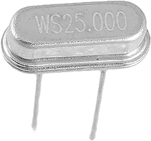 Aexit 50 piezas 25.000MHz 25MHz Oscilador de cristal HC-49S (model: P9322XIII-9519QU) de perfil bajo: Amazon.es: Bricolaje y herramientas
