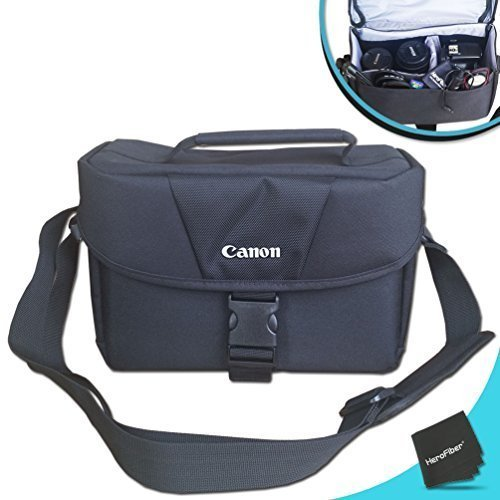 Canon Well Padded Camera CASE/Bag for Canon EOS 80D, 7D, 70D, 60D, 7D Mark ii, 6D, 5D, 5DS, 5DSR, EOS Rebel T6, T6i, T6s, T5i, T5, T4i, T3i, T3, T2i, EOS 760D, 750D, 700D, 650D and All DSLR Cameras