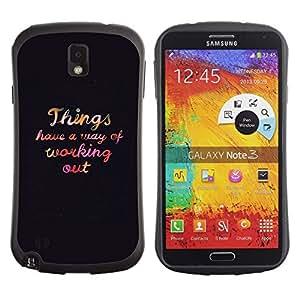 """Pulsar iFace Series Tpu silicona Carcasa Funda Case para Samsung Note 3 , Work Out motivación Autoayuda texto"""""""