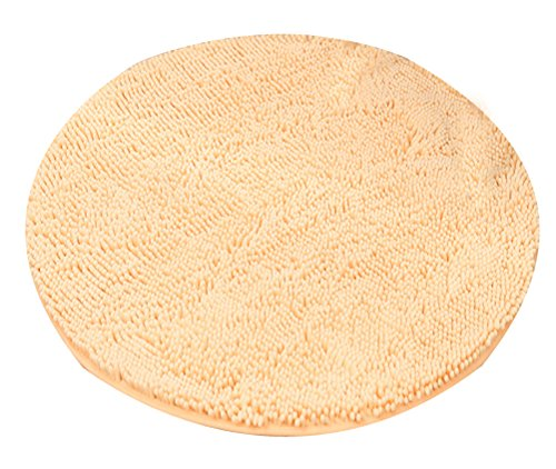 Heavy Multi-size Round Carpet Floor Area Rug Doormat Chenille Shaggy LivebyCare Ground Rugs Entrance Entry Way Front Door Mat Runner for Women Teens Girls Yoga Dance Exercise by LivebyCare