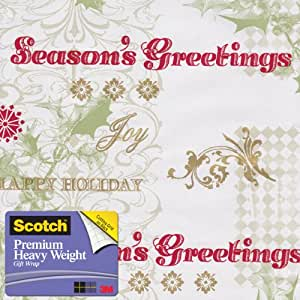 Scotch Gift Wrap, Verbiage on Patterns Pattern, 25-Square Feet, 30-Inch x 10-Feet (AM-WPVOP-12)