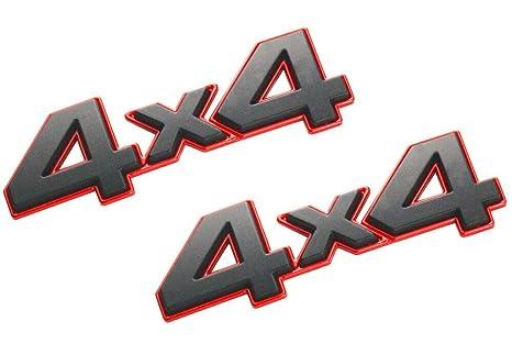 2 Pack 4x4 Emblem Badge Nameplate 3D Car Sticker Decal Compatible for Universal car Black