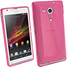 iGadgitz Pink Tinted Glossy Durable Crystal Gel Skin (TPU) Case Cover for Sony Xperia SP Android Smartphone Cell Phone + Screen Protector