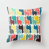Decorative Square Pillow Case Cushion Cover 18X18 Inches baby llamas