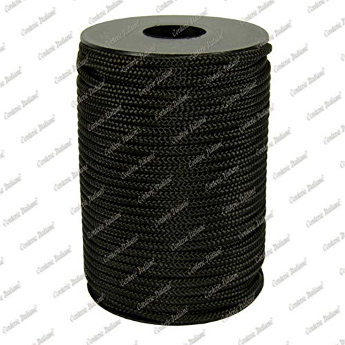 Corderie Italiane 006063414 Treccia polipropilene nera 8 mm 10 mt