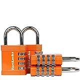 FortLocks Padlock Set - 4 Digit Combination Lock for Gym Outdoor & School Locker Fence Case & Shed ? Heavy Duty…