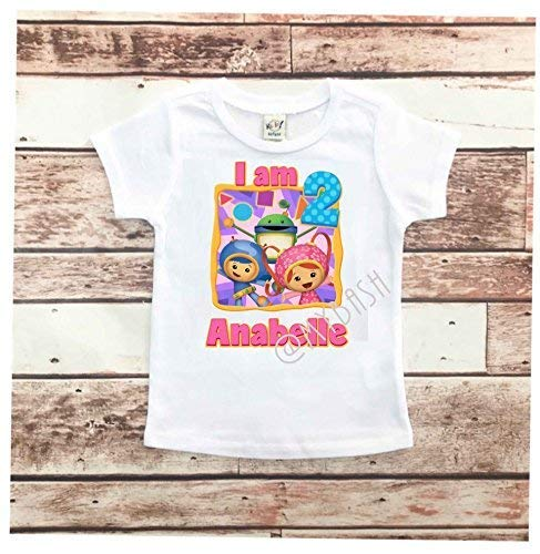 Personalize Umizoomi Birthday T-Shirt - Birthday Outfit - w/Name & Age ()