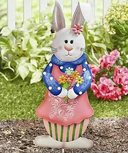 The Lakeside Collection Easter Bunny Garden Stakes- Girl Bunny]()