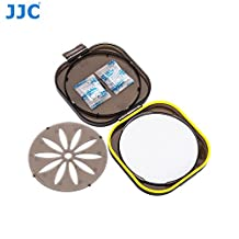 JJC FLC-L Moistureproof Rubber Seal Ring Filter Dryer Case for 58mm 62mm 67mm 72mm 77mm 82mm 86mm UV CPL ND Camera Lens Filter, with Replaceable Silica Gel Dehumidifier Desiccant