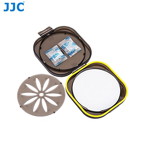 (JJC FLC-L Moistureproof Rubber Seal Ring Filter Dryer Case for 58mm 62mm 67mm 72mm 77mm 82mm 86mm UV CPL ND Camera Lens Filter, with Replaceable Silica Gel Dehumidifier)