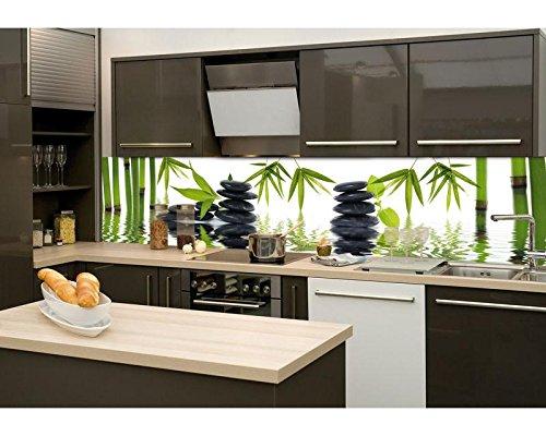 Küchenrückwand Küchenrückwand Küchenrückwand Folie selbstklebend ZEN STEINE 260 x 60 cm   Klebefolie - Dekofolie - Spritzschutz für Küche   PREMIUM QUALITÄT 14161f
