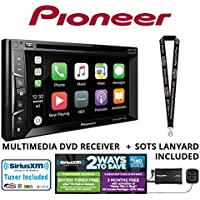 Pioneer AVH-1330NEX 6.2 DVD Receiver HD Radio Apple CarPlay Built in Bluetooth with SiriusXM Satellite Radio Tuner SXV300v1 and a FREE SOTS Lanyard