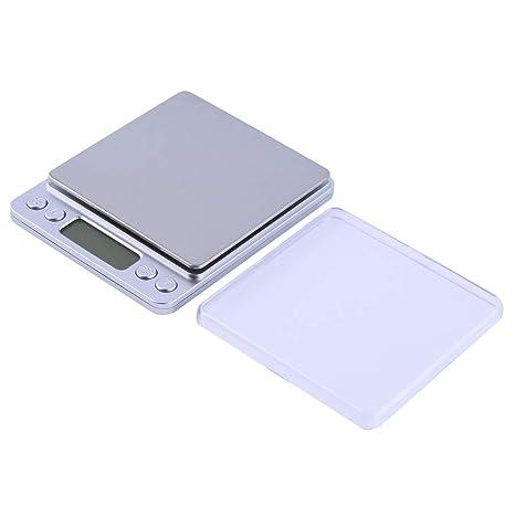 ZHANGYUGE Báscula Digital de precisión para la joyería de Oro Báscula Electrónica de Peso balanzas de