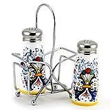 RICCO DERUTA: Salt and Pepper Shaker set w/Stailess Steel Top [#9500-RIC]