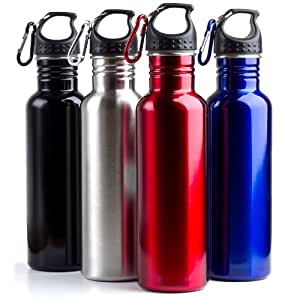 Amazon.com : Stainless Steel Reusable Sports Water Bottles ...