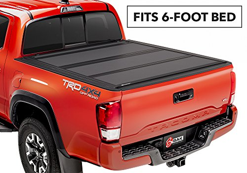 ip MX4 Hard Folding Truck Bed Cover 448427 2016-18 TOYOTA Tacoma 6' With Track System (6'6' Bed Body Kit)
