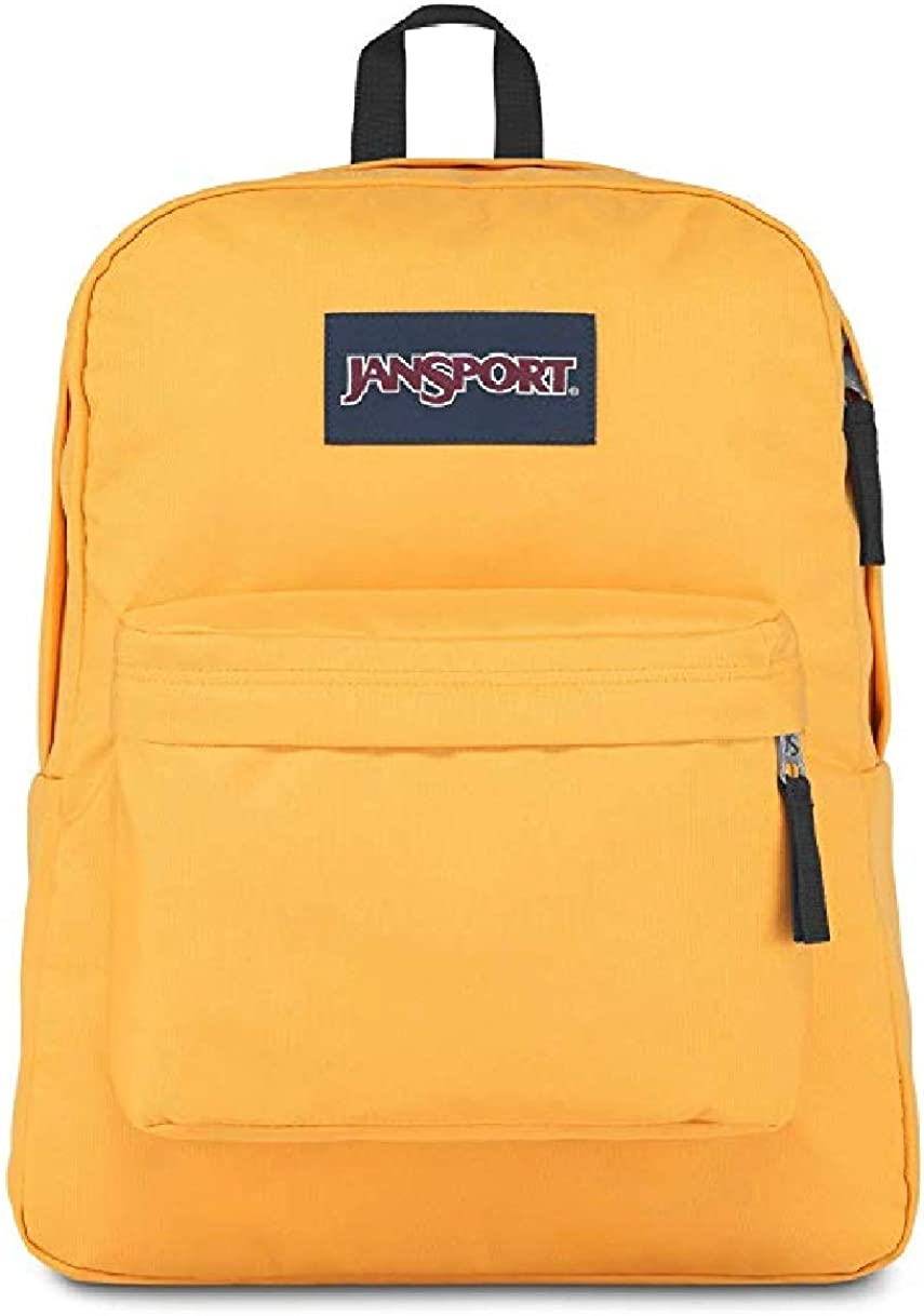 Jansport Superbreak Backpack yellow spectra