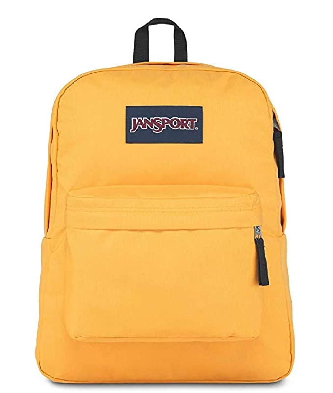 Jansport Superbreak Backpack (yellow spectra)