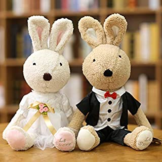 DONGER Cute Bunny Rabbit Toy Girl Bunny Doll, Couple T-Shirt (Pair), 60 Cm
