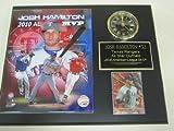 Rangers Josh Hamilton Collectors Clock Plaque w/8x10 Photo and Card 2010 AL MVP