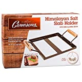 """Himalayan Salt Block Holder & Wire Cleaning Brush- Safe & Easy Salt Slab Plate and Grilling Stone Cooking (8""""x8"""")"""