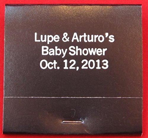 (75 personalized matchbooks wedding favors custom printed matchbooks bridal shower)