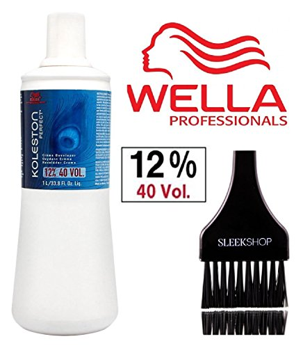 - Wella KOLESTON PERFECT Cream Developer (with Sleek Tint Brush) (40 Volume/12% - 33.8 oz liter)