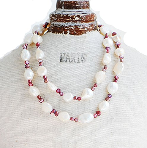 ABB Series 9-10mm Baroque & 4-5mm Nugget Cultured Freshwater Pearl Necklace 25