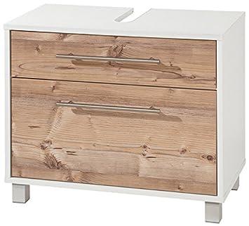 Badezimmer Waschbecken-Schrank mit Schublade silberfichte Unterschrank Badmöbel