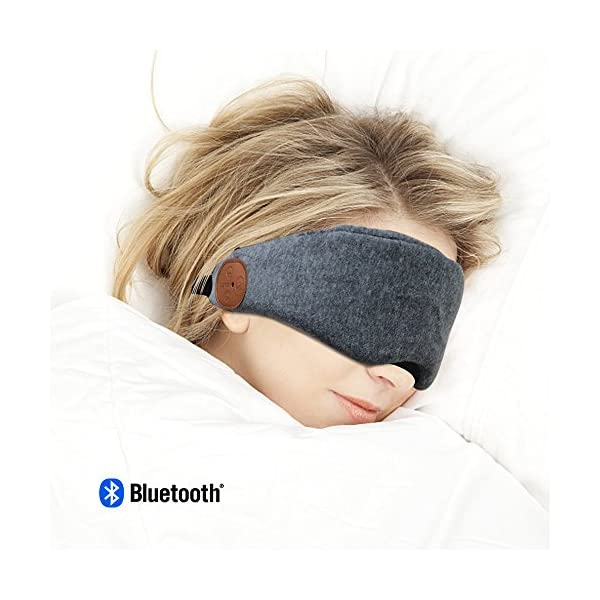 20e638a4789 Bluetooth Sleeping Eye Mask Headphones Wireless Blindfold Sleep Headsets  Handsfree Travel Sleeping Headphones Bluetooth V4.2 Eye Cover Built-in  Speakers and ...