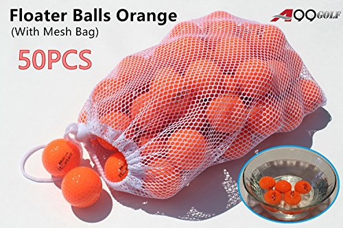 50pcs A99 Golf floater balls orange color with logo - floating balls by A99 Golf