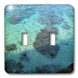 3dRose LLC lsp_22966_2 Ocean Of Hawaii Double Toggle Switch