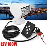 Boat Spotlights, 100W Remote Control Spotlights for