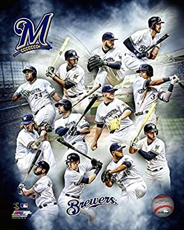69b34addf Image Unavailable. Image not available for. Color  Milwaukee Brewers 2018 MLB  Team ...
