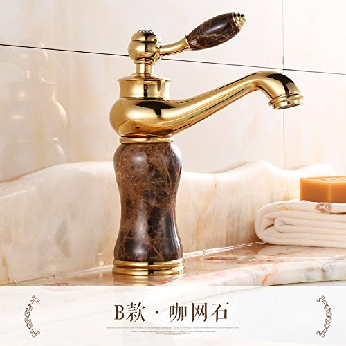 B) Coffee Hlluya Professional Sink Mixer Tap Kitchen Faucet The tap on the sink, hot and cold water basin full of copper, Wong Yuk