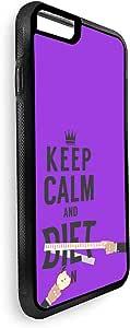 حافظة مطبوع عليها Keep Calm & Diet لهاتف iPhone 6s