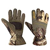 Men's Mossy Oak Camo Hunting Gloves by Hot Shot (Large, Camo)