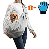 Doommy Pet Sling Carrier, Small Dog Cat Sling Pet Carrier Bag Safe Comfortable Machine Washable Adjustable Double-sided Pouch Single Shoulder Carry Tote Handbag for Pets Below 10 lb (Grey)