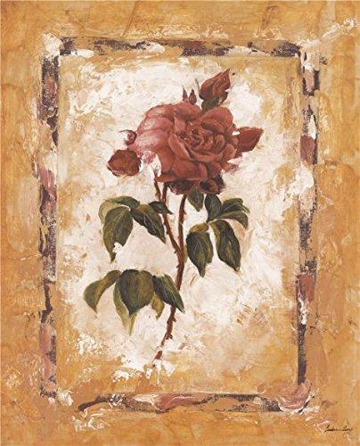 油彩画「レッドローズ」印刷ポリエステルキャンバスに、8x 10インチ/ 20x 25cm、The Bestバーギャラリーアートとホームギャラリーアートとギフトはこの素晴らしいアート装飾プリントキャンバスの商品画像