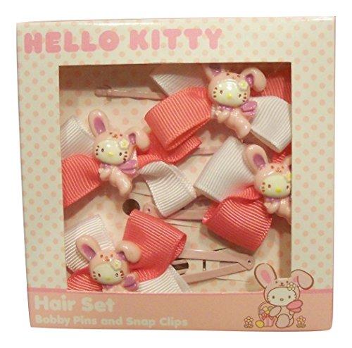Hello Kitty Hair Pin (Hello Kitty Bunny Hair Set ~ Bobby Pins & Snap Clips)