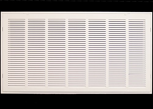 36'' X 12 Steel Return Air Filter Grille for 1'' Filter - Removable Face/Door - HVAC DUCT COVER - Flat Stamped Face - White [Outer Dimensions: 38.5''w X 14.5''h] by HVAC Premium