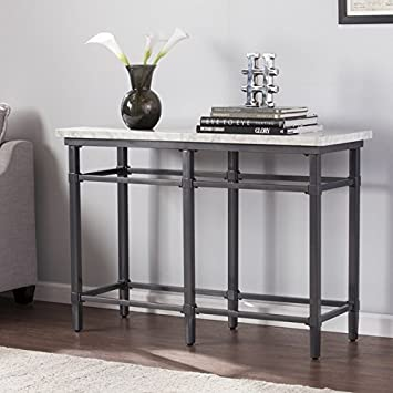 Harper Blvd Timmons Faux Marble Sofa/ Console Table