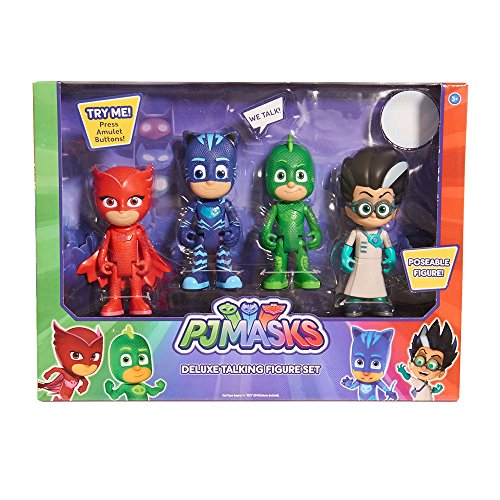 PJ MASK POSEABLE DELUXE TALKING FIGURE SET