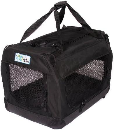 GoGo Pet 3-Door Soft Dog Crate, Medium 36 L x 25 W x 25 H, Black