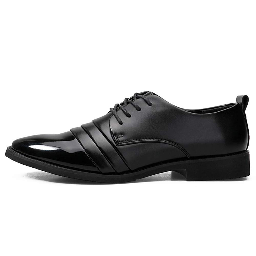 9a71de0788d ... Oxford Casual Fashion British Style Spring New Patent Leather Formal  Shoes(One Yard Less Than Normal) Abrasion Resistant (Color   Black