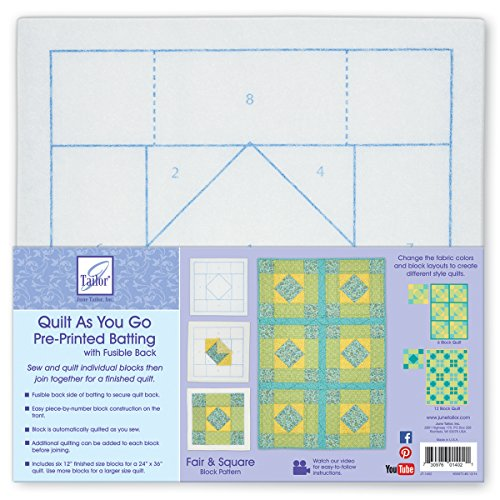 June Tailor Block Series Quilt As You Go - Fair & Square by June Tailor